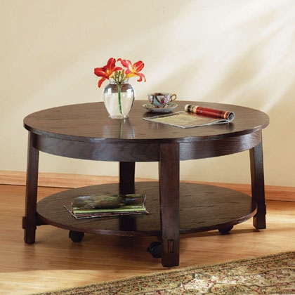 Excellent Widely Used Dark Wood Round Coffee Tables Intended For Round Coffee Table Wood (Image 17 of 50)