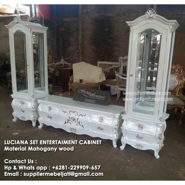 Excellent Widely Used French TV Cabinets Pertaining To Classic Modern Cabinet Buffet French Painted French Jepara (Image 13 of 50)