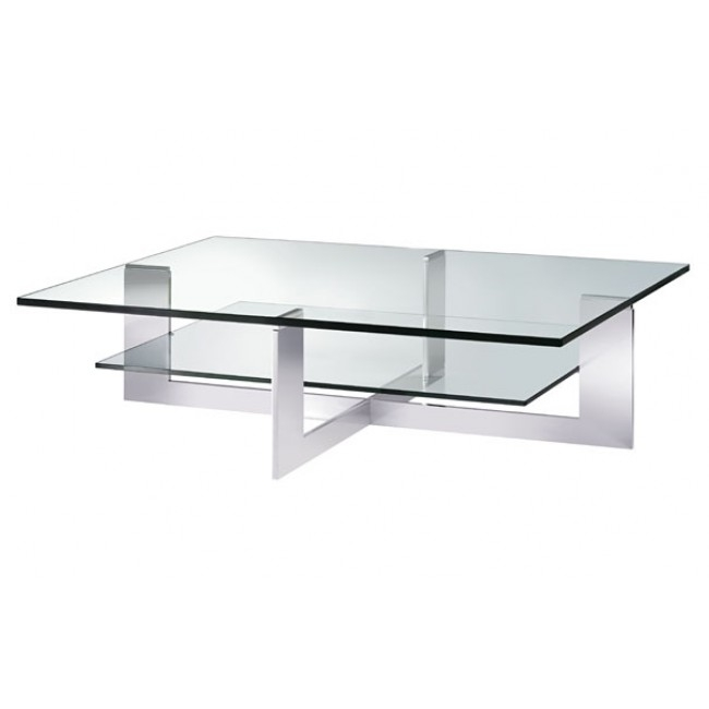 Excellent Widely Used Glass And Chrome Coffee Tables Inside Coffee Table Exciting Rectangle Glass Coffee Table Uk Glass (Image 19 of 50)