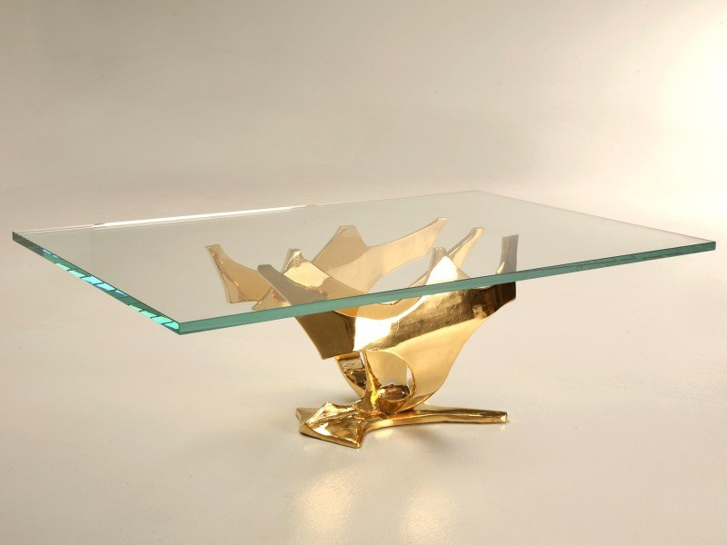 Excellent Widely Used Glass Gold Coffee Tables With Gold Coffee Table (View 38 of 50)