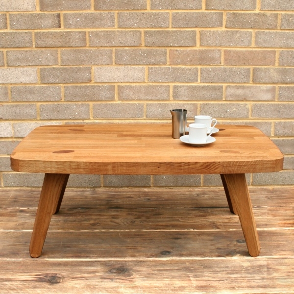 Excellent Widely Used Large Low Oak Coffee Tables Inside Bulldog Solid Oak Low Coffee Table (Image 23 of 50)