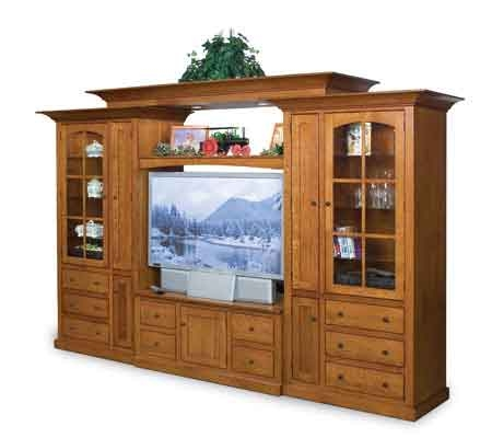 Excellent Widely Used Large TV Cabinets With Large Oak Flat Screen Tv Cabinet Clear Creek Tv Furniture (View 42 of 50)