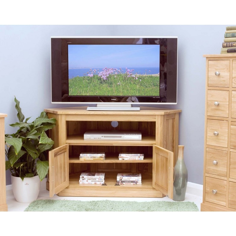 Excellent Widely Used Light Oak Corner TV Cabinets Regarding Modern Light Oak Tv Units Solid Oak Furniture At Zurleys Uk (Image 24 of 50)