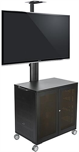 Excellent Widely Used Lockable TV Stands Pertaining To Locking Tv Carts 59 Power Cord (Image 18 of 50)