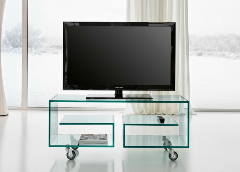 Excellent Widely Used Modern Glass TV Stands In Modern Glass Tv Unit Tv Stand With Wheels Buy Glass Tv Unittv (Image 18 of 50)