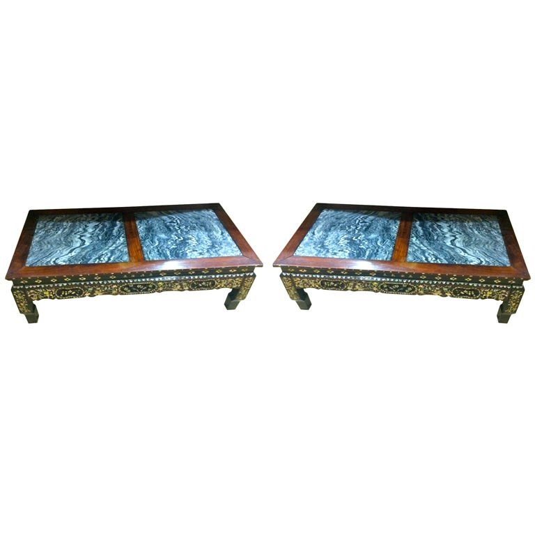 Excellent Widely Used Mother Of Pearl Coffee Tables Pertaining To Pair Of 19th Century Chinese Rosewood And Mother Of Pearl Cocktail (Image 14 of 50)