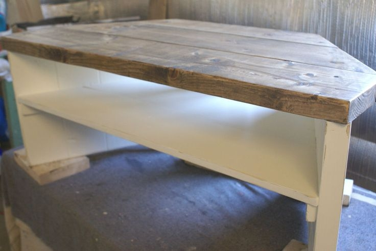 Excellent Widely Used Pine Corner TV Stands Pertaining To Corner Tv Stand Cabinet Shab Chic Rustic Hand Painted Solid Wood (Image 11 of 50)