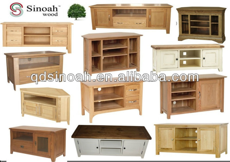 Excellent Widely Used Solid Oak Corner TV Cabinets In Country Style Oak Wooden Tv Stand Wooden Tv Unit Ad17 Buy Oak (View 42 of 50)