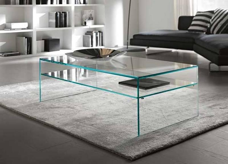 Excellent Widely Used Swirl Glass Coffee Tables Within 15 Contemporary Glass Coffee Table Designs Rilane (Image 21 of 50)