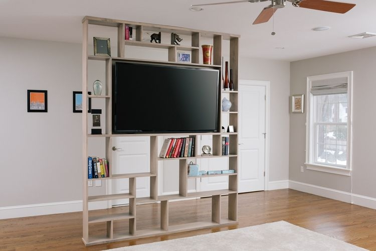 Excellent Widely Used TV Stands And Bookshelf Throughout Hand Crafted Lexington Room Divider Bookshelf Tv Stand Corl (Image 14 of 50)