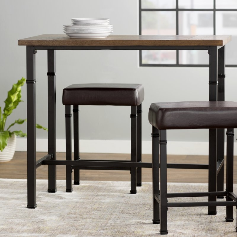 Excellent Widely Used Wayfair Coffee Table Sets Intended For Laurel Foundry Modern Farmhouse Sevigny 3 Piece Pub Table Set (Image 18 of 50)