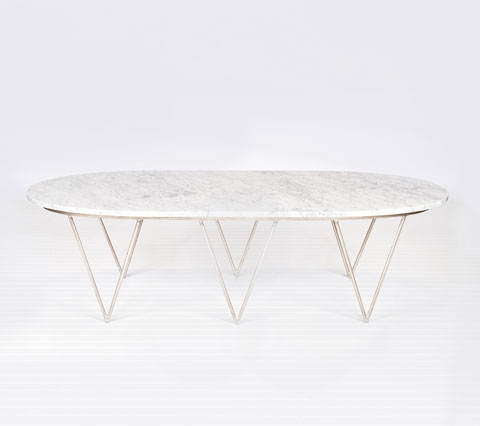 Excellent Widely Used White Oval Coffee Tables With Regard To Oval Marble Coffee Table (View 40 of 50)