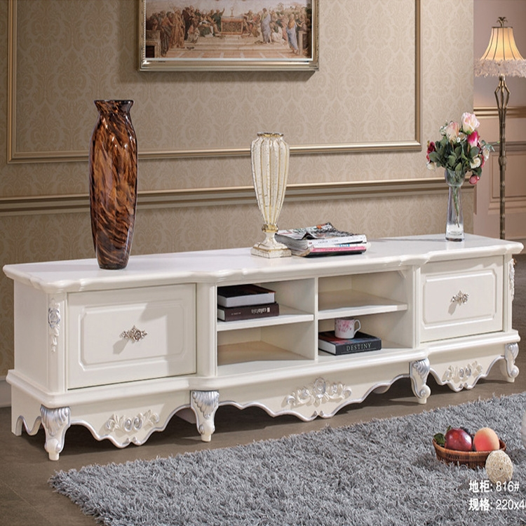 Excellent Widely Used White Painted TV Cabinets In Dongguan Restaurant Hotel Furniture Supply Simple Metal Frame (View 12 of 50)