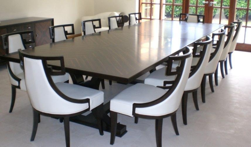 Exellent Dining Room Table Seats 10 Chairs Contemporary Circular Within 10 Seat Dining Tables And Chairs (Image 14 of 20)