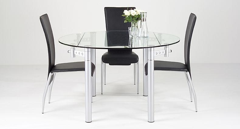 Expandable Glass Dining Room Tables Unlikely Lovely Ideas Modern 4 Intended For Glass Round Extending Dining Tables (Image 6 of 20)