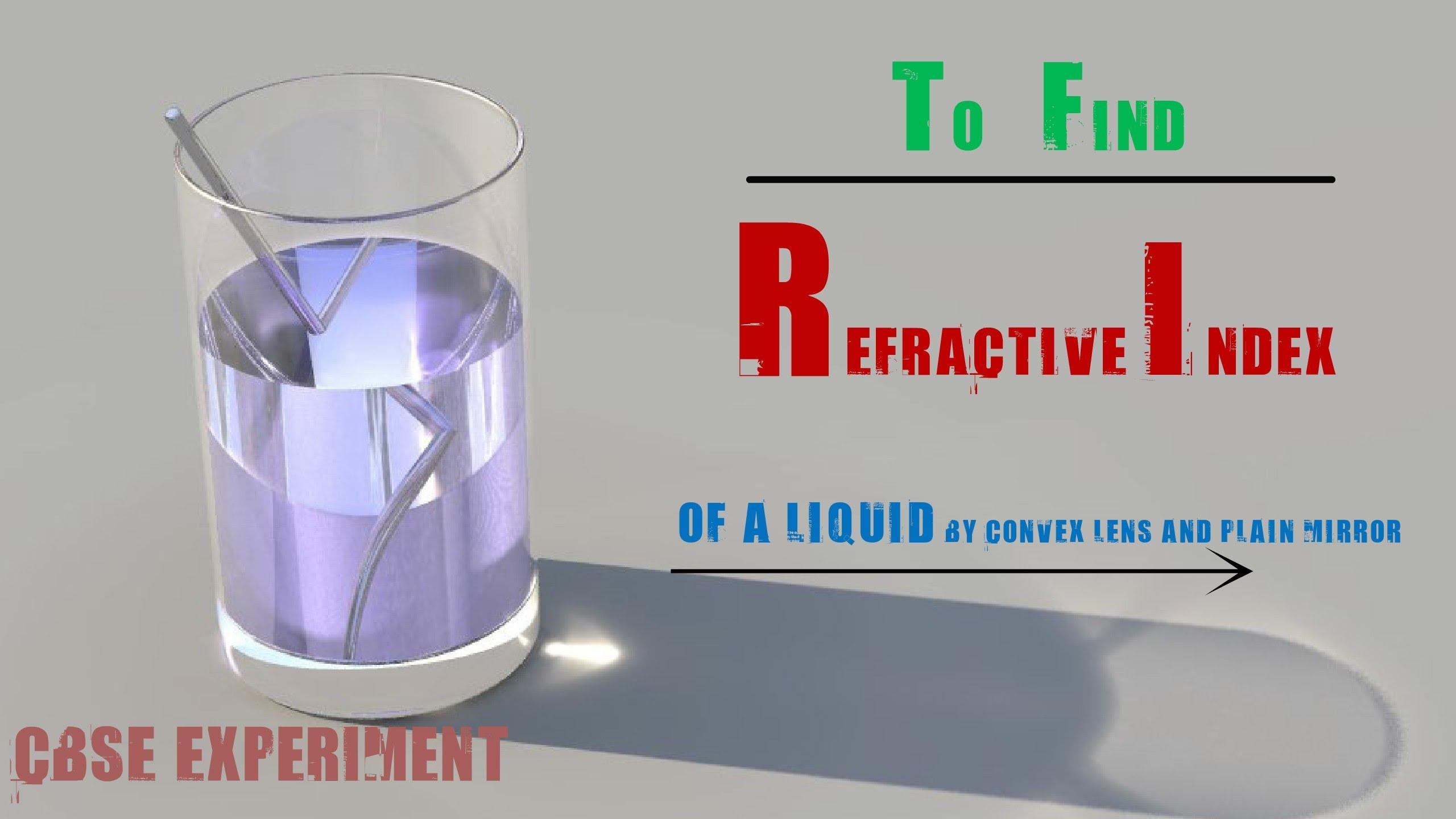 Experiment #18 To Find Refractive Index Of A Liquidusing A In Liquid Glass Mirrors (Image 9 of 20)