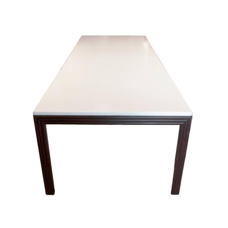 Exquisite Paul Frankl Mahogany And Lacquered Cork Dining Table For For Cork Dining Tables (View 13 of 20)