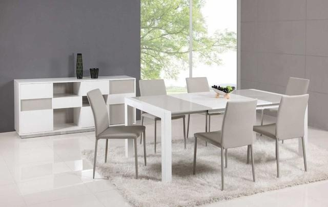 Extendable Dining Room Tables And Chairs Best 18 Aspen White With White Extendable Dining Tables And Chairs (View 18 of 20)