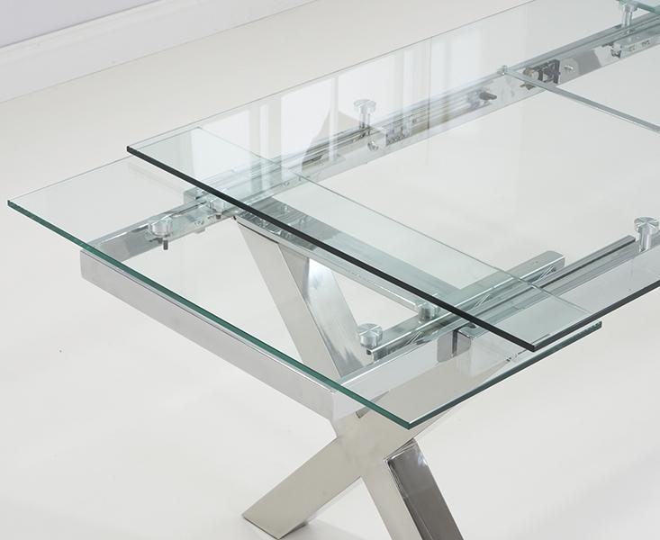 Extendable Dining Set For Glass Extending Dining Tables (Image 4 of 20)