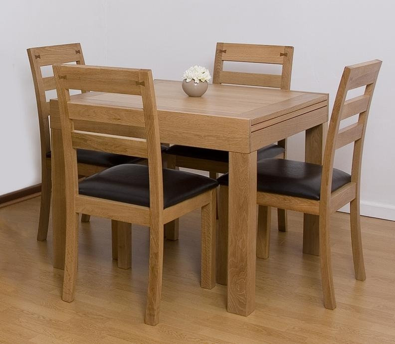 Extendable Dining Set Intended For Small Extendable Dining Table Sets (Image 8 of 20)
