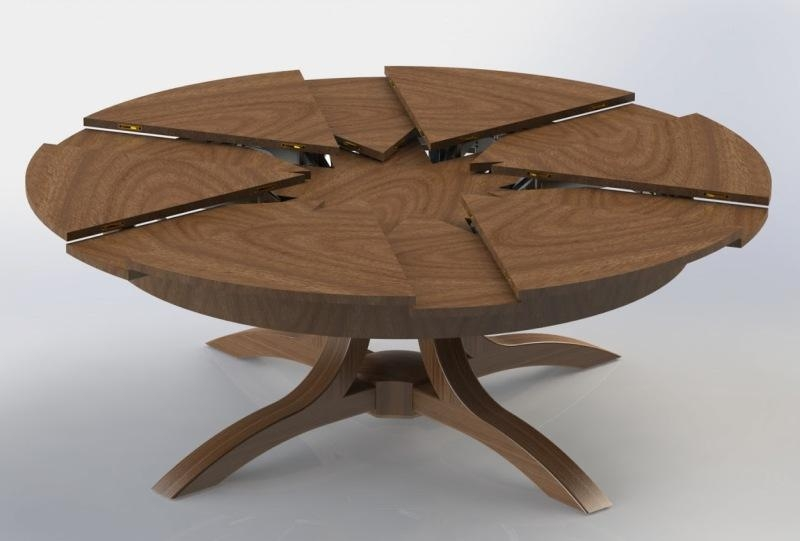 Extendable Dining Tables For Small Spaces For Small Round Extending Dining Tables (Image 5 of 20)