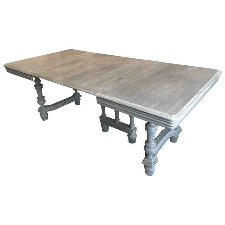 Extendable French Lime Wood Dining Table For Sale At 1Stdibs With French Extending Dining Tables (View 10 of 20)