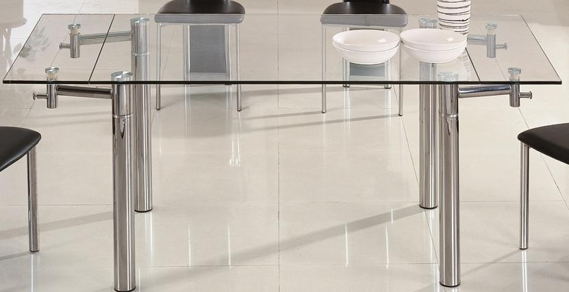 Extendable Glass Dining Table Grace Blackchintaly Larger Image Regarding Glass Extending Dining Tables (View 12 of 20)