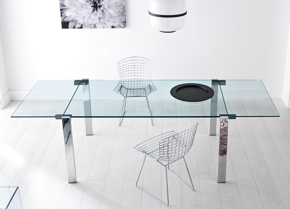 Extendable Glass Dining Table Set – Sl Interior Design Regarding Glass Extending Dining Tables (Image 7 of 20)