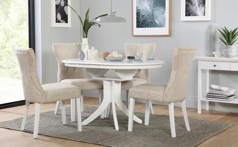 Extending Dining Table & Chairs – Extendable Dining Sets Regarding White Extendable Dining Tables And Chairs (View 8 of 20)