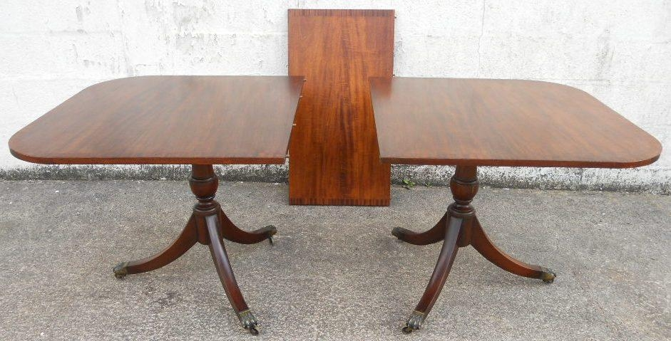 Extending Dining Table In The Antique Georgian Style To Seat Ten Intended For Mahogany Extending Dining Tables (Image 10 of 20)