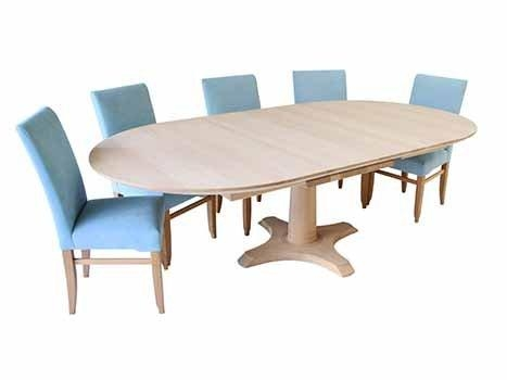 Extending Dining Tables In Solid Oak And Walnut In Extending Solid Oak Dining Tables (Image 6 of 20)