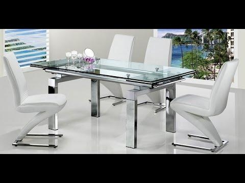 Extending Glass Dining Table And 4 Chairs Sets Uk – Youtube With Regard To Extendable Dining Table And 4 Chairs (Image 8 of 20)