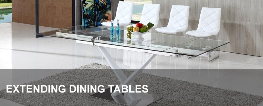 Extending Glass Dining Tables | Modenza Furniture Throughout Extendable Glass Dining Tables (View 9 of 20)