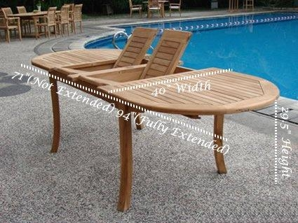 Extending Teak Patio Table Vs Fixed Length Dining Table – Pros And Intended For Extending Outdoor Dining Tables (Image 16 of 20)