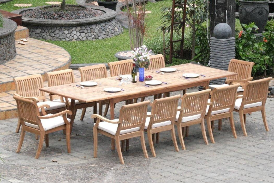 Extending Teak Patio Table Vs Fixed Length Dining Table – Pros And With Outdoor Extendable Dining Tables (Image 11 of 20)