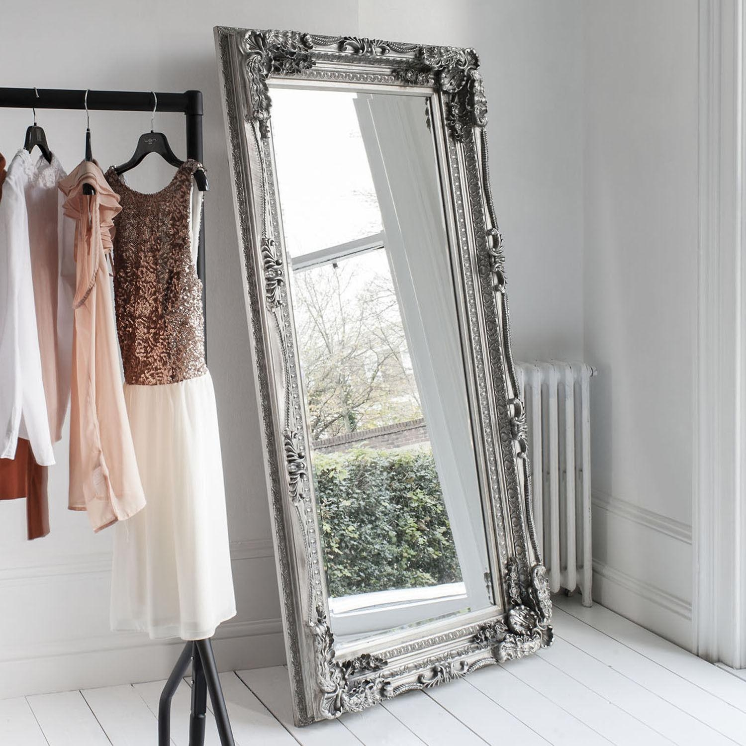 Extra Large Floor Standing Mirror Uk | Floor Decoration Intended For Big Silver Mirror (Image 9 of 20)