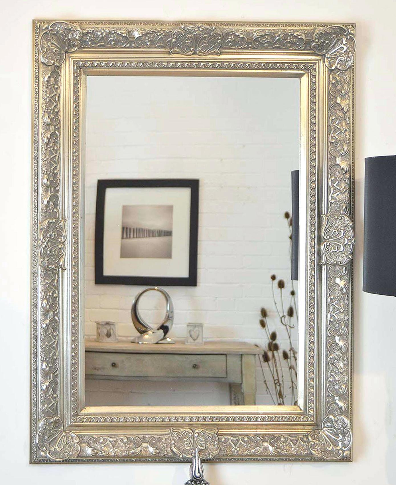 Extra Large Mirrorsx Wall Mirrors – Shopwiz Throughout Big Silver Mirror (Image 10 of 20)