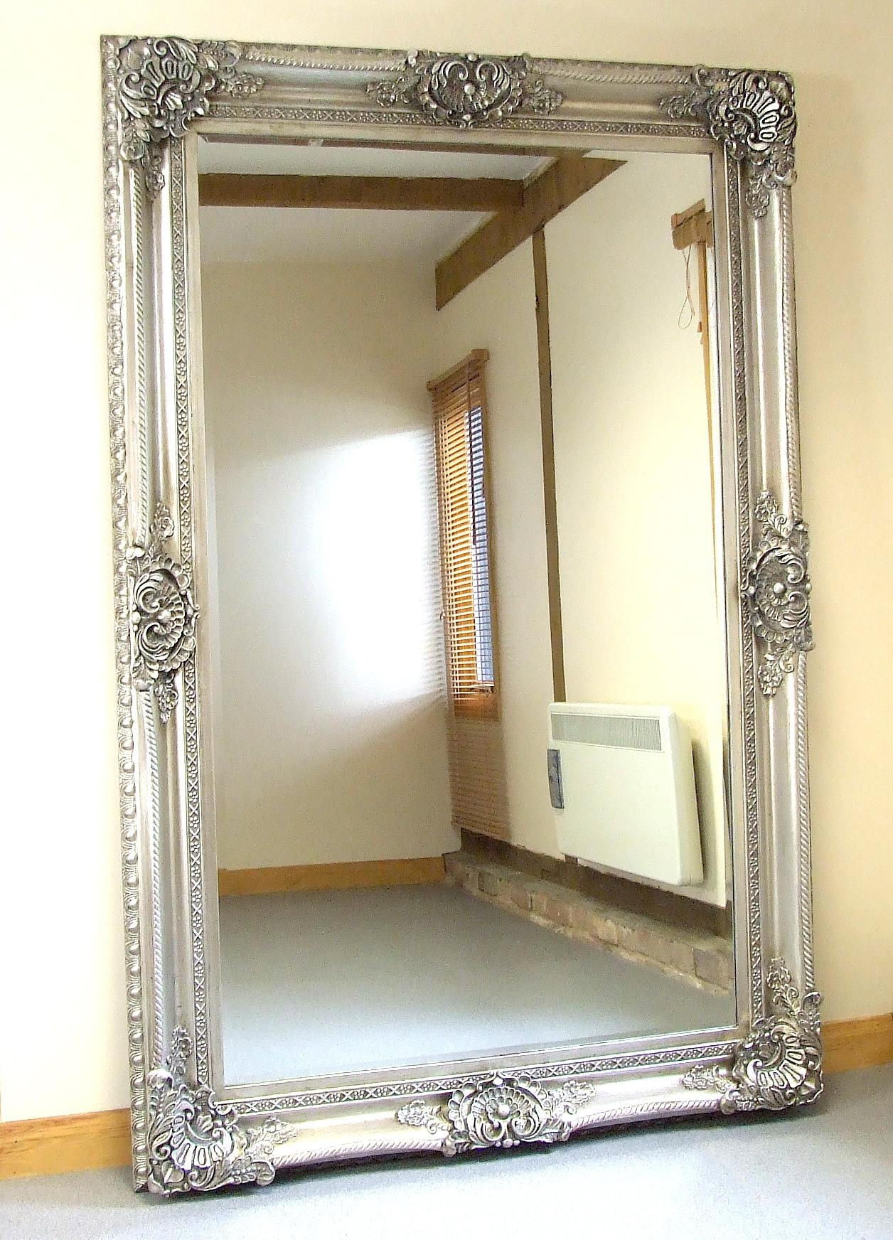 Extra Large Ornate Floor Mirror | Floor Decoration Within Ornate Floor Length Mirror (Image 7 of 20)