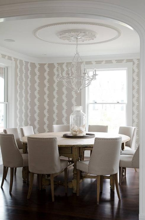 Extra Large Round Gray Dining Table Design Ideas With Regard To Large White Round Dining Tables (Image 9 of 20)