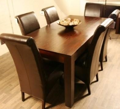 Extraordinary 8 Chair Dining Table Sets Charming Square Dining Throughout 6 Chairs Dining Tables (Image 12 of 20)