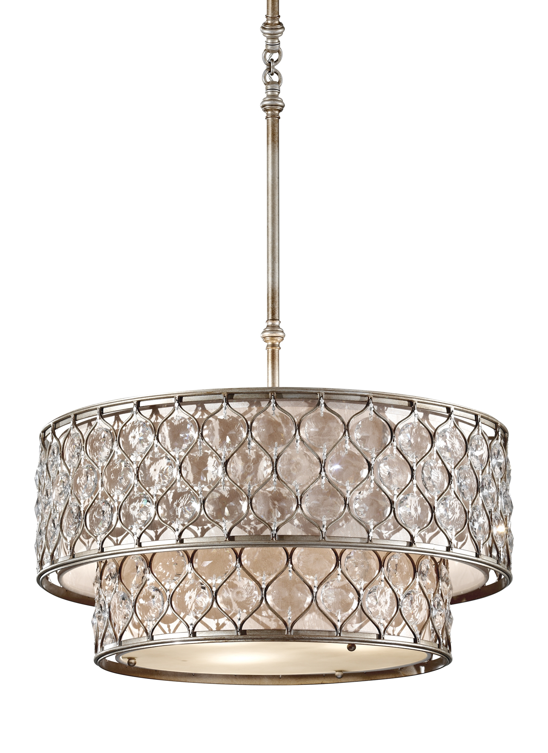 F27076bus6 Light Chandelier Burnished Silver With Regard To Feiss Chandeliers (Image 8 of 25)