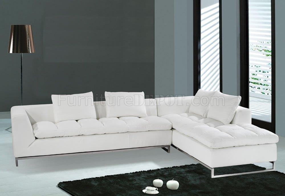 F32 Sectional Sofa. White Leather. Model F (View 13 of 20)