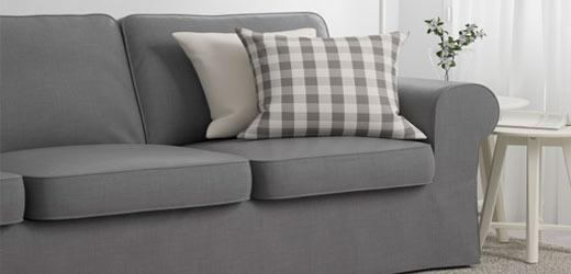 Fabric Couches & Sofas – Ikea With Short Sofas (View 20 of 20)