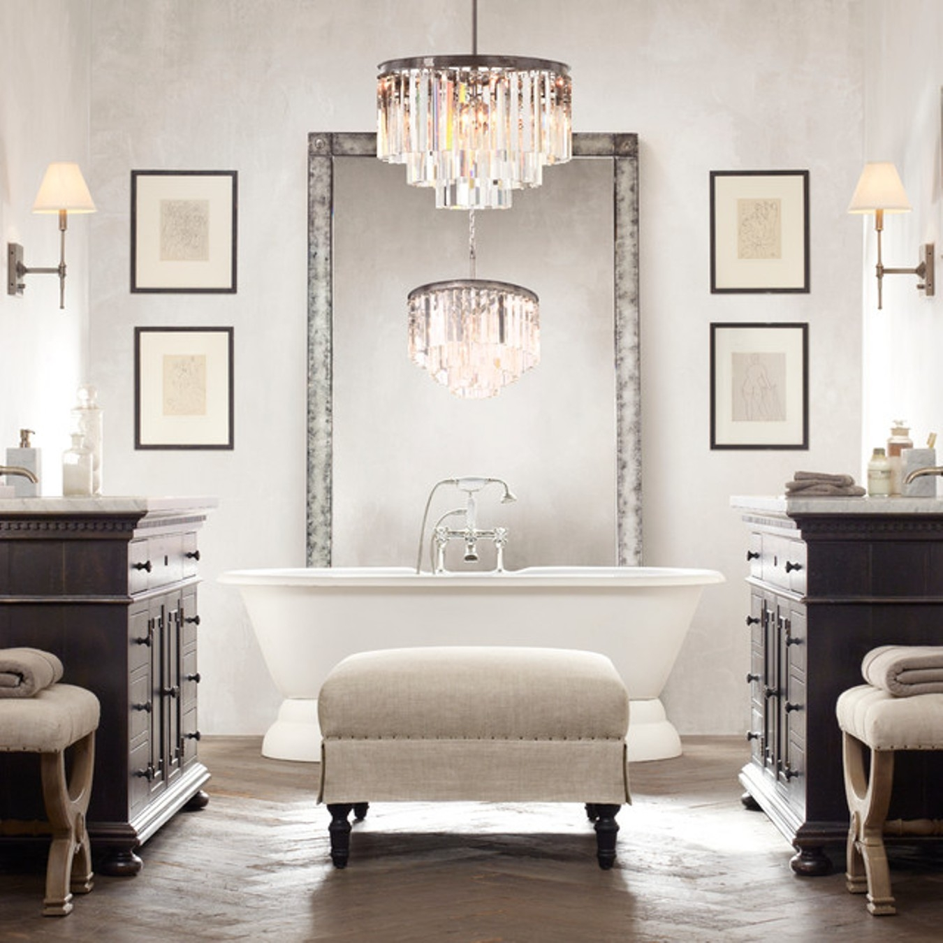 Fabulous Bathroom Chandelier Lighting Oil Rubbed Bronze Bathroom Pertaining To Chandelier Bathroom Vanity Lighting (Image 22 of 25)