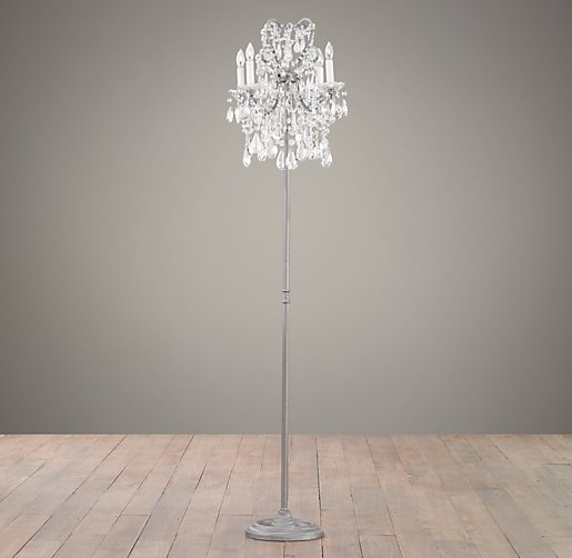 Fair Crystal Floor Chandelier For Home Interior Designing With For Crystal Chandelier Standing Lamps (Image 14 of 25)