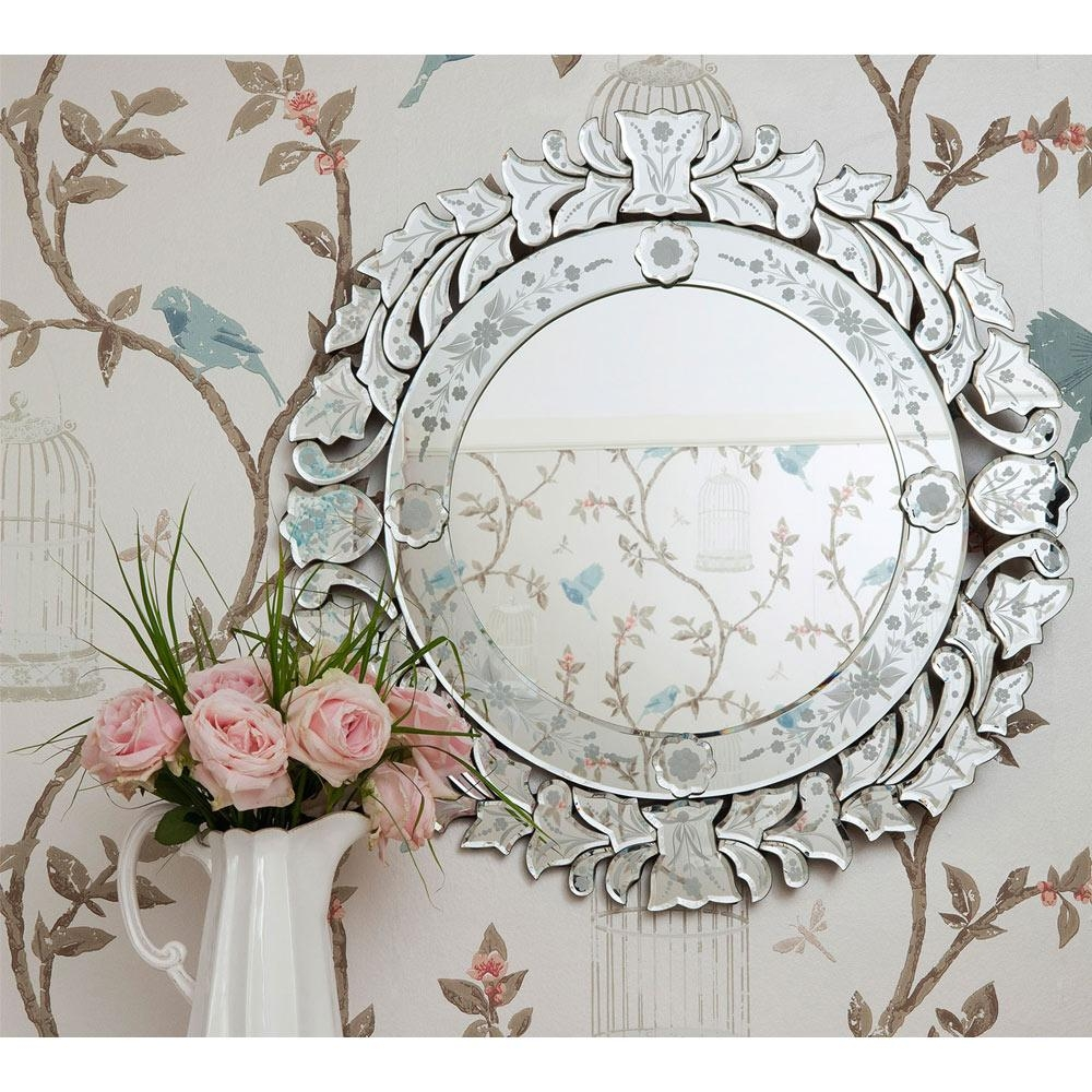 Fancy Floris Venetian Glass Mirror | Luxury Mirror With Venetian Style Mirrors (View 10 of 20)