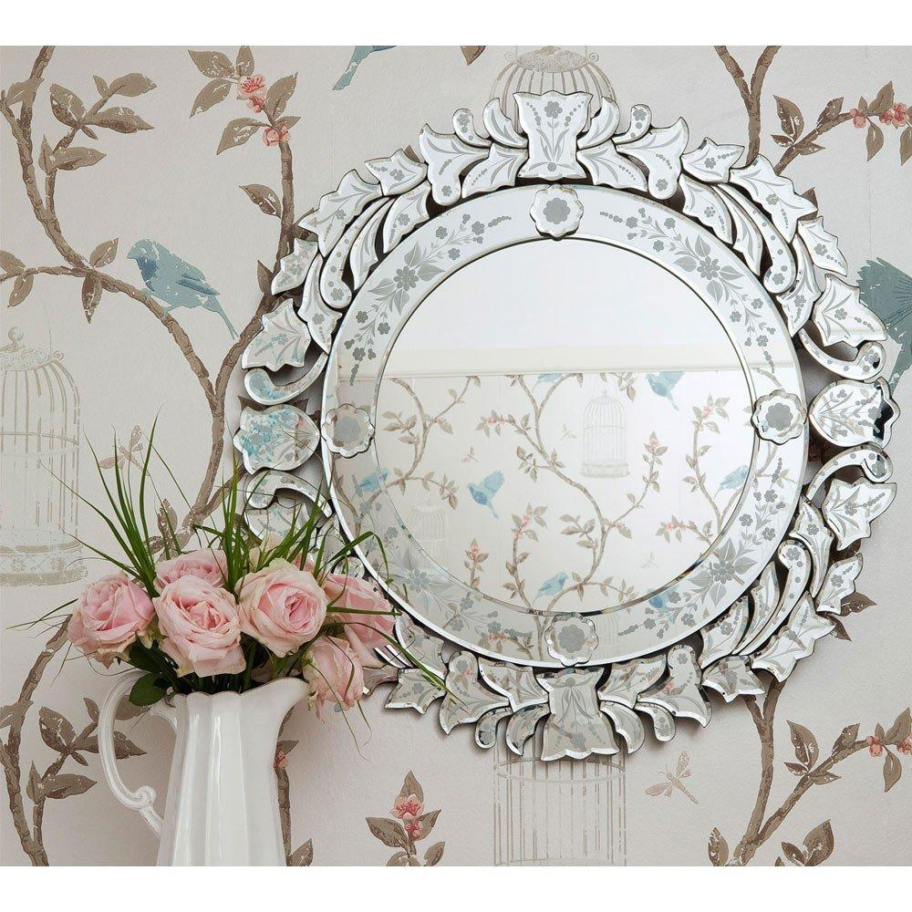 Fancy Floris Venetian Glass Mirror | Luxury Mirror Within Mirrors Venetian (Image 5 of 20)