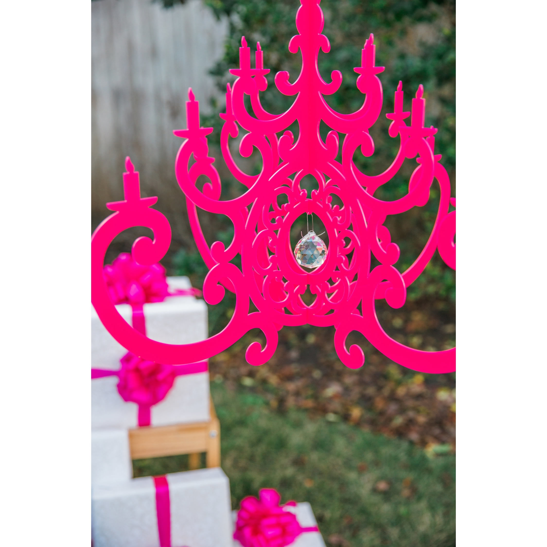 Fancy Hot Pink Chandelier Mobile With Regard To Turquoise And Pink Chandeliers (View 12 of 25)