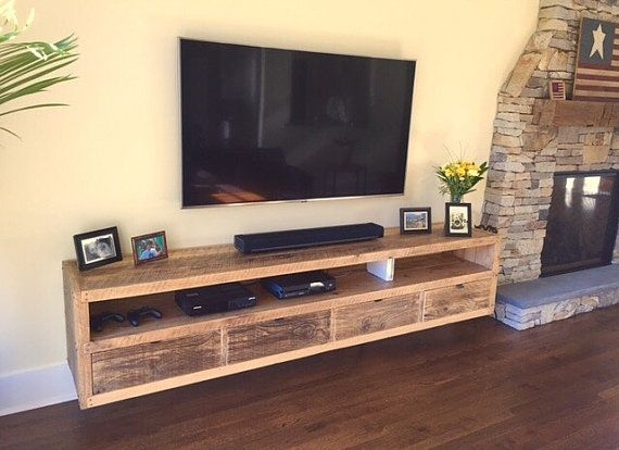 Fantastic Best Bench TV Stands Inside Best 25 Floating Tv Stand Ideas On Pinterest Tv Wall Shelves (Image 20 of 50)