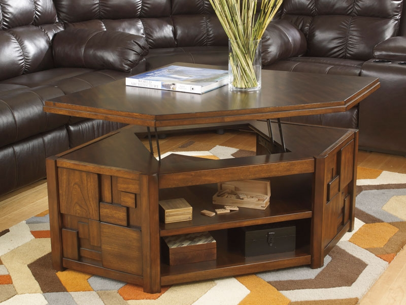 Fantastic Best Coffee Tables With Rising Top Within Rising Coffee Table Great Lift Top Coffee Table For Reclaimed Wood (Image 9 of 40)